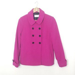 Precis Petite   Pink Wool Cashmere Pea Coat Jacket